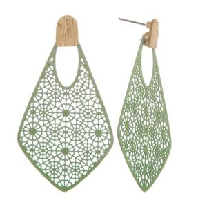 Jewelry - Mint Filigree Earrings